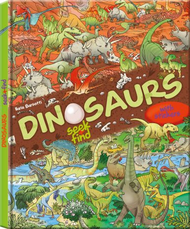 Dinosaurs seek+find