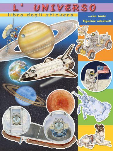Science sticker books serie